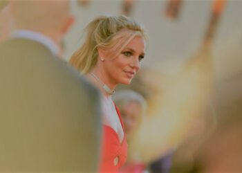 """US singer Britney Spears arrives for the premiere of Sony Pictures' """"Once Upon a Time... in Hollywood"""" at the TCL Chinese Theatre in Hollywood, California on July 22, 2019. (Photo by VALERIE MACON / AFP) (Photo credit should read VALERIE MACON/AFP via Getty Images)"""
